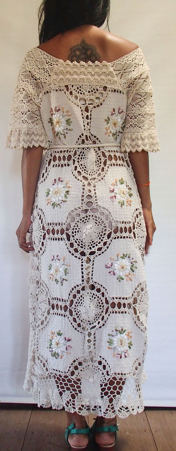 Beautiful and Elegant Crochet and Lace Embroidered by SpellMaya