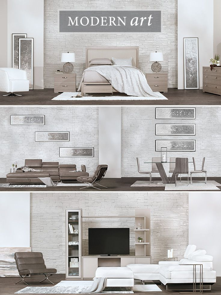 Bring sophistication to any room with these sleek, modern pieces. The Caelan bedroom blends fashion with function, providing drawers for maximum storage. The Loki sectional and swivel chair, upholstered in soft microfiber, add flair to your living room. And the clean lines of the Kendall dining room complete the look.