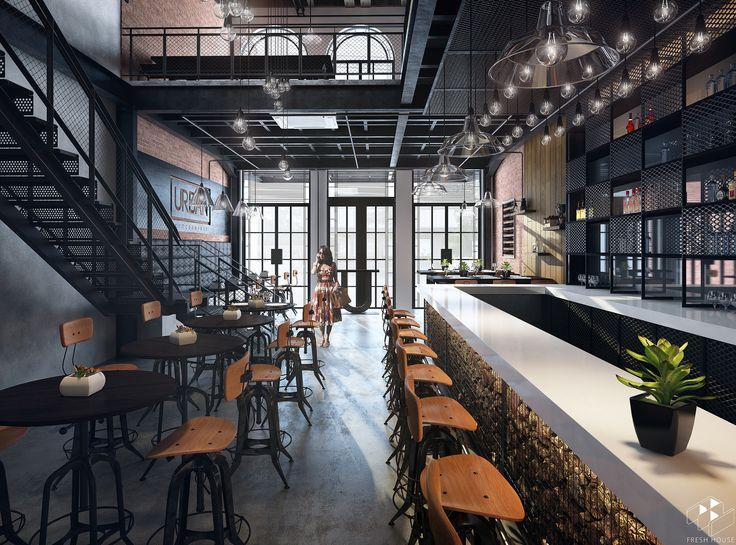 Urban Restaurant Kitchen Bar Refined Bars
