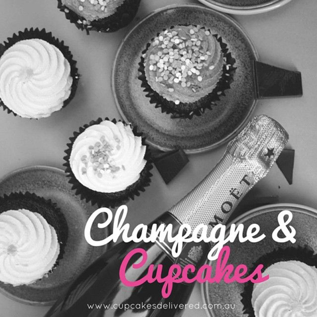 One way to make Monday better! #cupcakes #cupcakesdelivered #monday #champagne #moet #love #smile #celebrate #enjoy #happy #fun #dessert #girls #party #partytime #laugh #food #foodie #sydney #melbourne #brisbane #adelaide #perth #australia #canberra #hobart