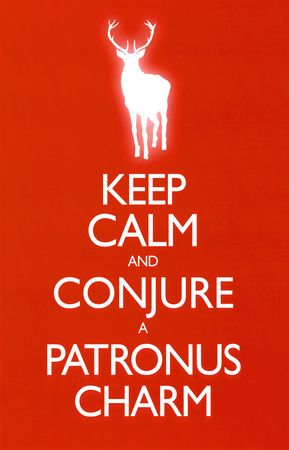 Keep Calm and Conjure a Patronus Charm Carry On Spoof Poster Print Poster at AllPosters.com