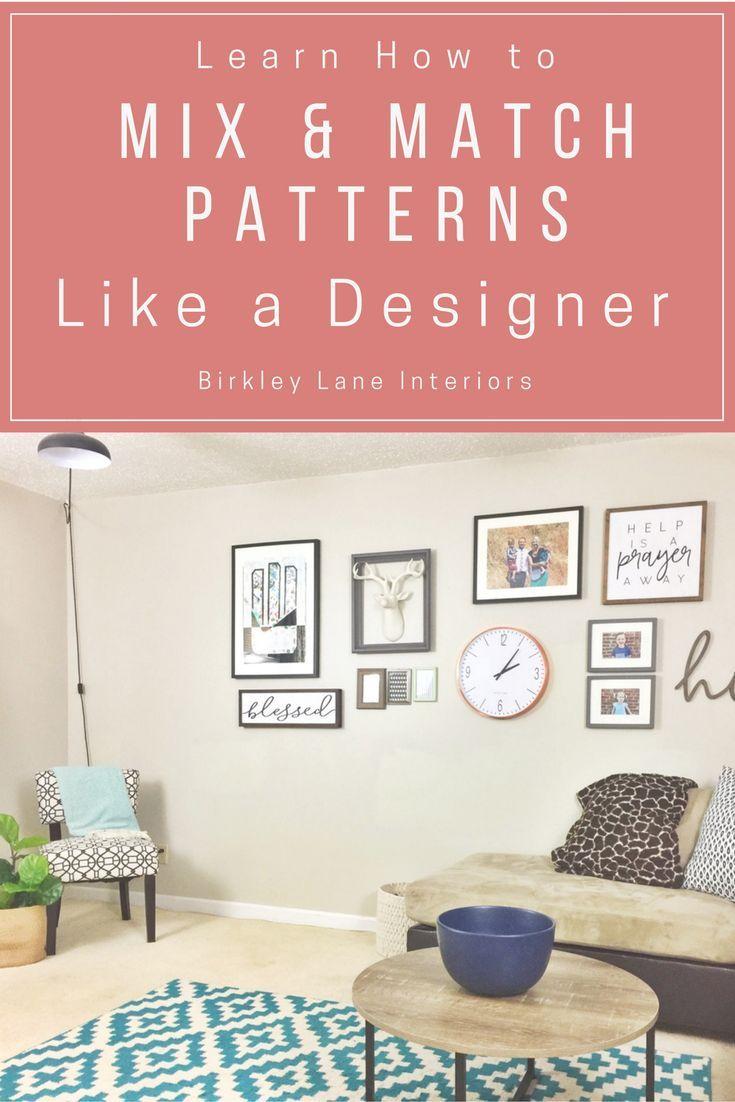 How To Mix Patterns Like A Designer Decor Free Interior Design