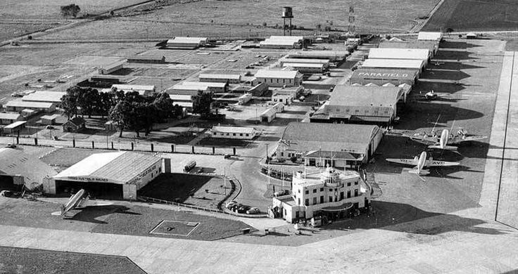 Parafield in Adelaide,South Australia in 1948,when it was Adelaide's only airport.