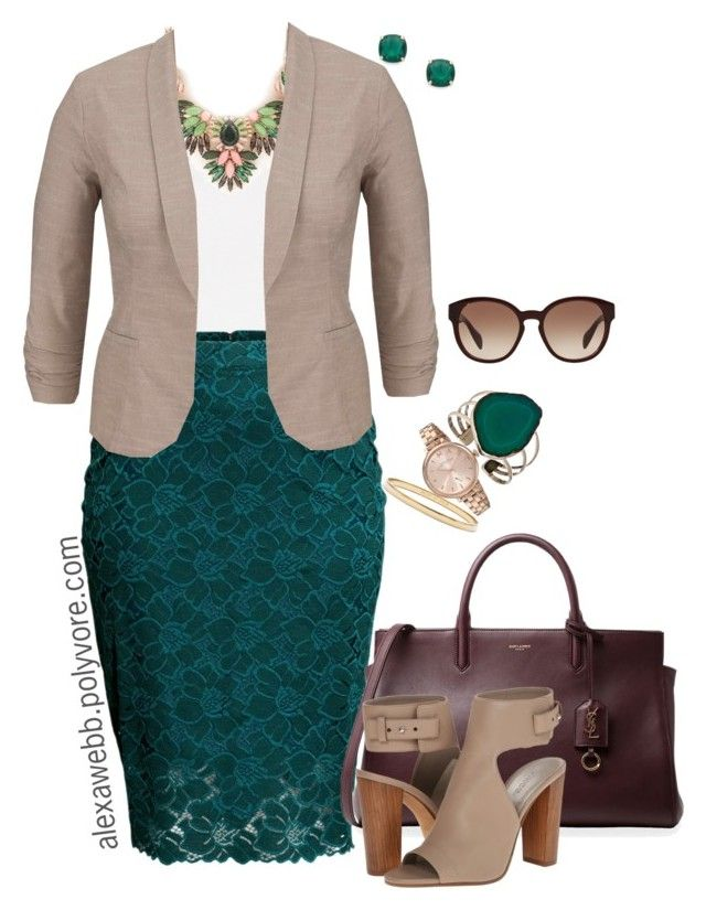 Plus Size - Business Class by alexawebb on Polyvore featuring maurices, H&M, Vince, Charles Albert, Marc by Marc Jacobs, Kate Spade, Prada, Yves Saint Laurent, plussize and plussizefashion