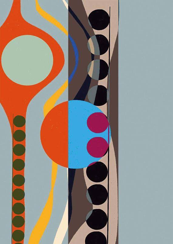 Bauhaus Formen Farben Elemente Handdrawn Digital