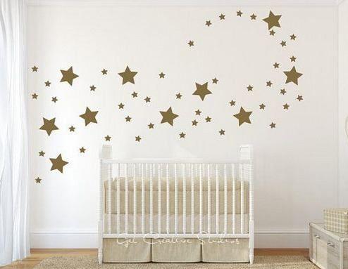 increíble vinilo decorativo estrellas doradas