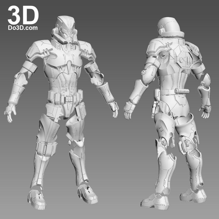 3D Printable Model: Variant Star Wars Stormtrooper Full