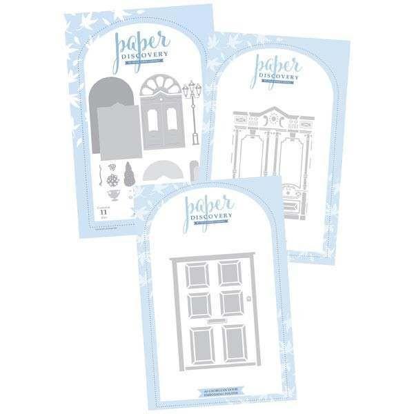 Paper Discovery Elegant Door Card Builder Die Set Door Embossing