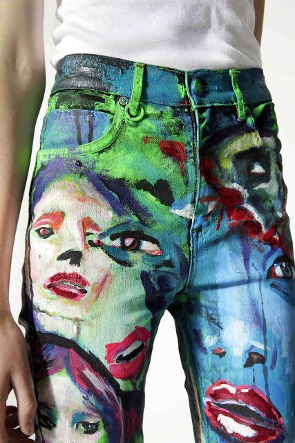 BLACKlog: The Art of Denim - Art Painted on Denim - Online auction live on Trade Me