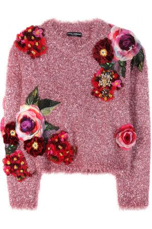 Dames Sweaters - Dolce & Gabbana Metallic Sweater With Appliqué