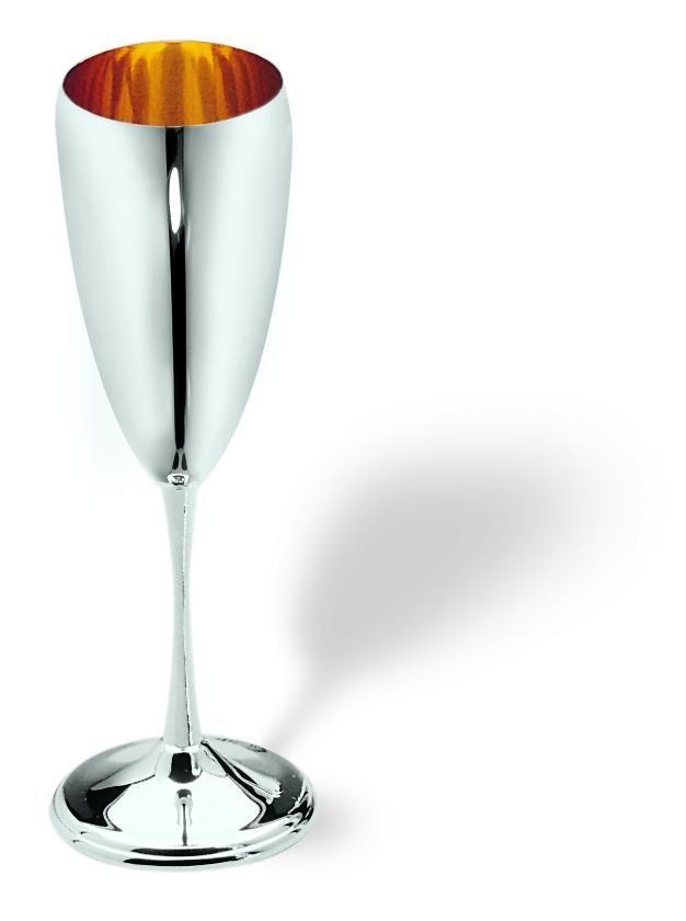 Fine Wine with an appropriate Fine Glass  #elegance #silver #luxury