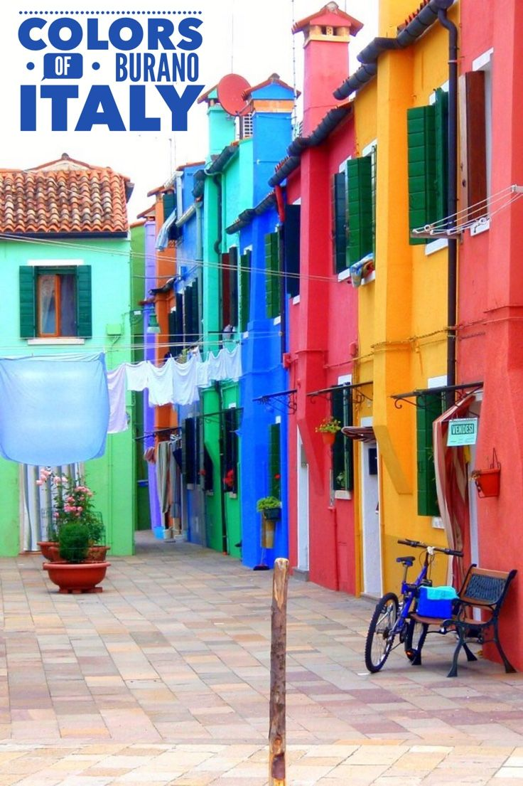 BURANO Italy with it's vibrant colors makes a wonderful day trip from Venice. A short ride on one of Venice's water taxi's and this quiet paradise known for lace making is yours to explore. Information on how to get to Burano, what to see and do are included with the colorful photos.