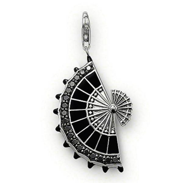Colgante Thomas Sabo plata, abanico esmalte negro - Manuel Joyero