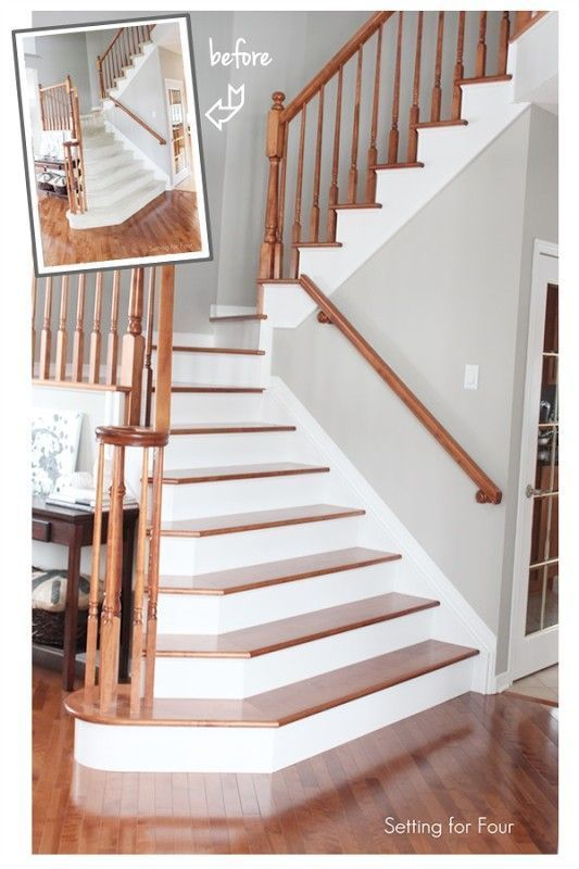 Stairs Makeover Before and After – Tips to replace carpet and install hardwood o…