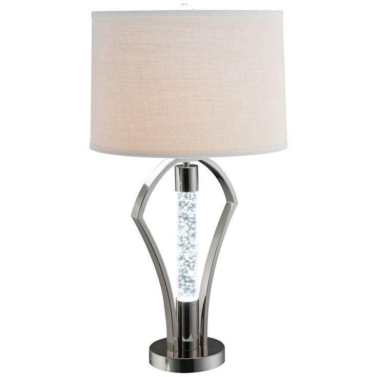 Dara Nickel LED Night Light Table Lamp - Style # 9X436