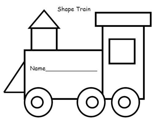 Train Engine Template Preschoolers