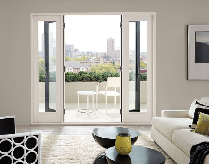 Patio Doors With Double Sidelight For More Natural Light