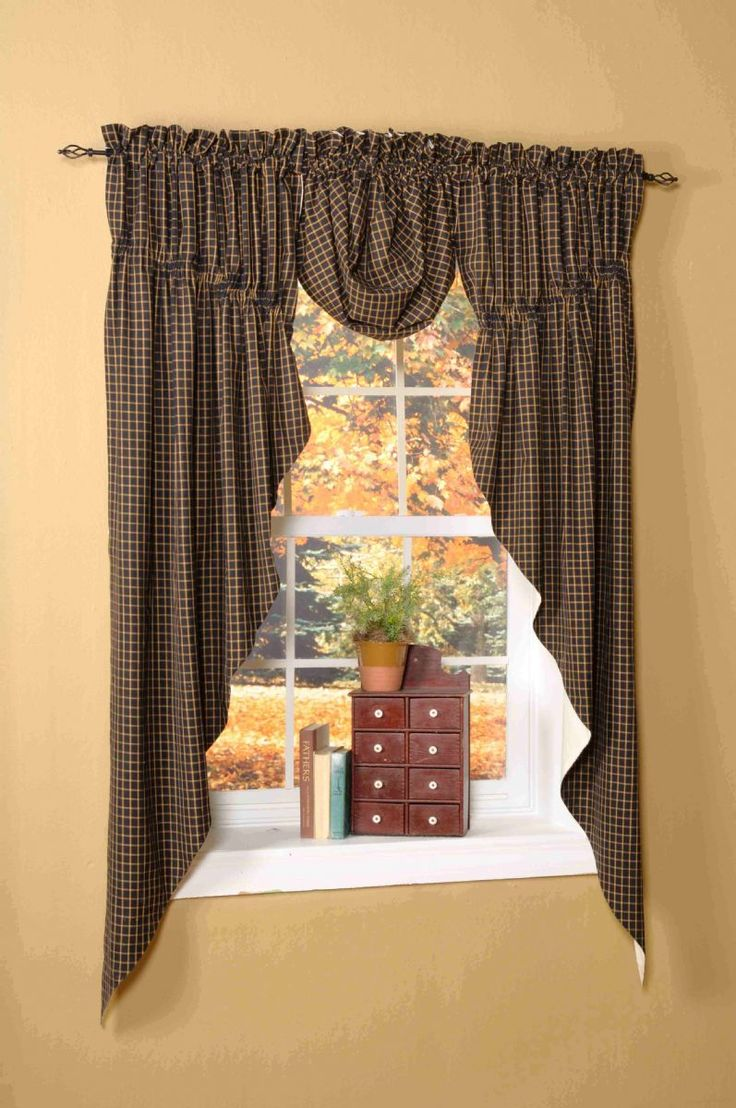 Best 25+ Primitive curtains ideas on Pinterest   Country ...