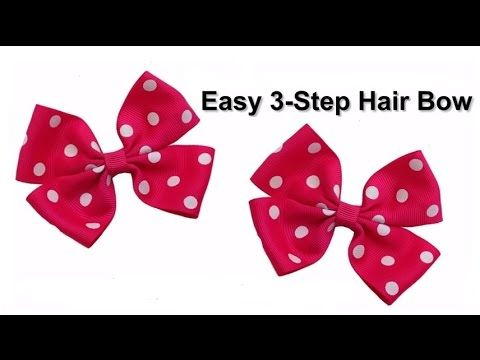 Easy 3-Step No Sew DIY Hair Bow Tutorial, My Crafts and DIY Projects