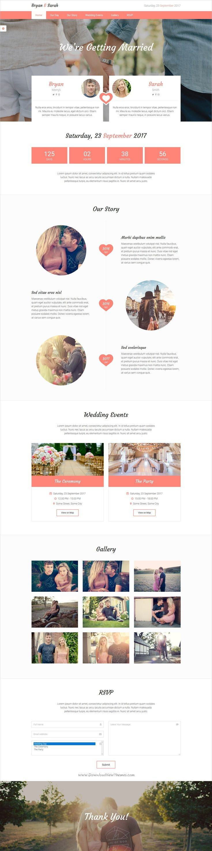 Our love is modern and elegant design responsive #HTML #bootstrap template #wedding events website download now➩ https://themeforest.net/item/our-love-responsive-html-wedding-template/19562547?ref=Datasata