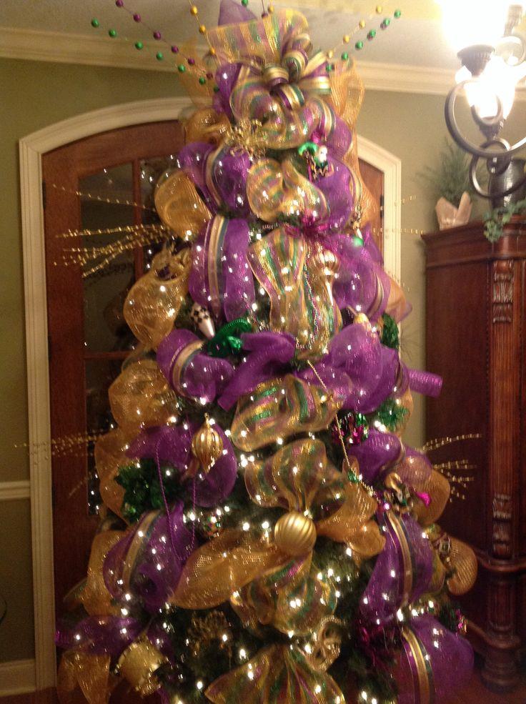Mardi Gras Tree. Holiday DecorChristmas ... - 8 Best Mardi Gras Images On Pinterest Carnivals, Holiday