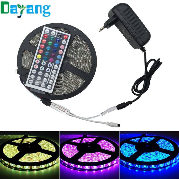 RGB LED Strip 5050 IP65 Waterproof 5M 30Leds/M DC 12V Fita Led String Stripe Neon Bombillas Led Lamp+12V 3A 36W Power Adapter
