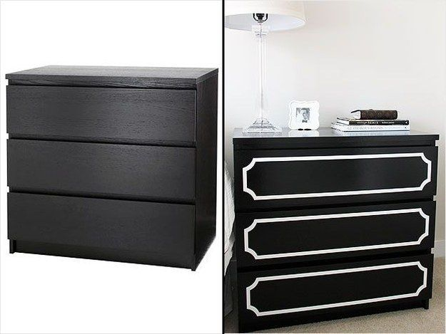 Cover a Malm dresser ($79.99) with O'verlays. | 37 Cheap And Easy Ways To Make Your Ikea Stuff Look Expensive