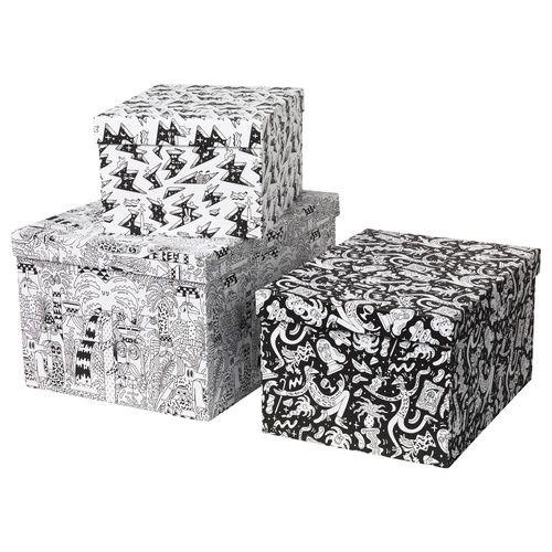 קופסא עם מכסה/סט 3 יח' STUNSIG