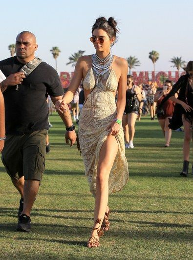 Kendall Jenner's crochet dress is the definition of boho chic.