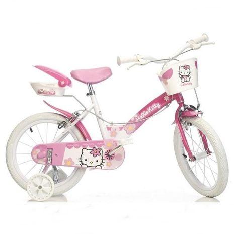 "Vehicule pentru copii :: Biciclete si accesorii :: Biciclete :: Bicicleta Hello Kitty 14"" Dino Bikes"
