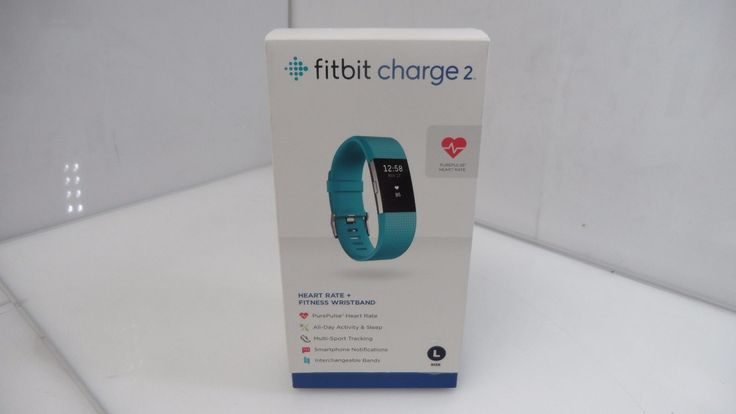 Fitbit Charge 2 Heart Rate  Fitness Wristband Teal Large