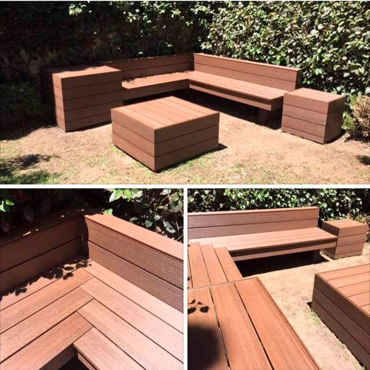 composite deck bench plans on 10 Outdoor Projects You Can Build With Composite Decking Boards Composite Decking Boards Composite Decking Outdoor Furniture Ideas Backyards