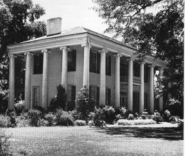 Dearing swain house 1835 tuscaloosa alabama alabama for Southern architectural styles