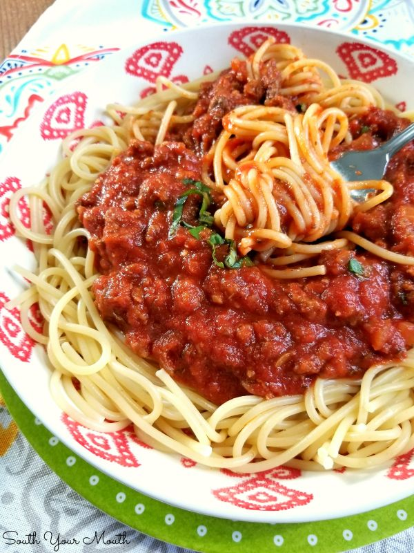 Homemade Spaghetti With Meat Sauce Recipe Homemade Spaghetti Meat Sauce Spaghetti Meat Sauce