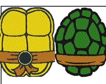 Ninja Turtle Shell Template Clipart - Free Clipart