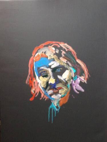 "Saatchi Art Artist Martin Sjardijn; Painting, ""Houellebecq"" #art"