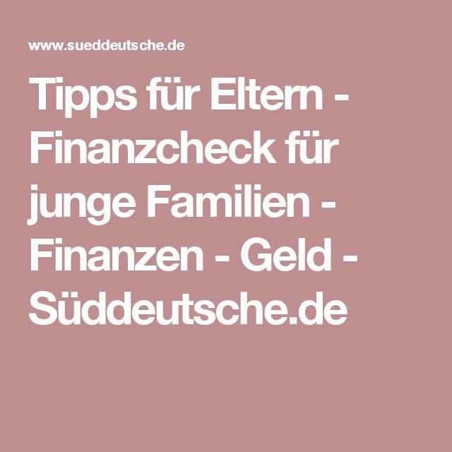 Tipps für Eltern - Finanzcheck für junge Familien - Finanzen - Geld - Süddeutsche.de