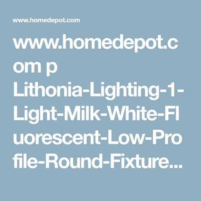 www.homedepot.com p Lithonia-Lighting-1-Light-Milk-White-Fluorescent-Low-Profile-Round-Fixture-FMXLR-72-M2 202193184