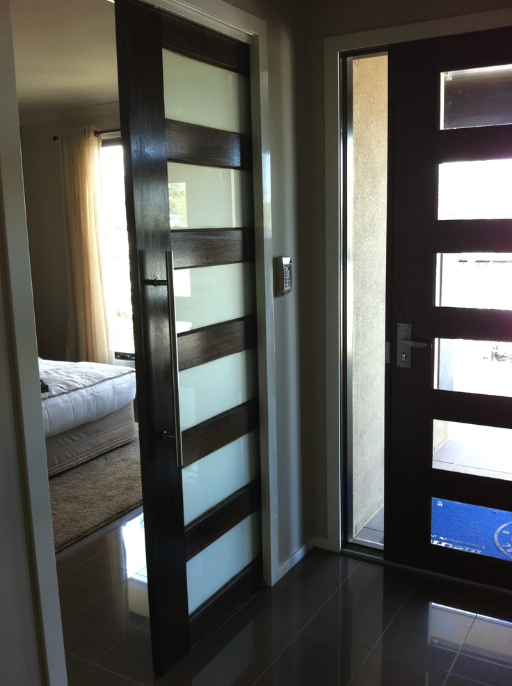 entrance door with sliding door to master bedroom metricon emmerson