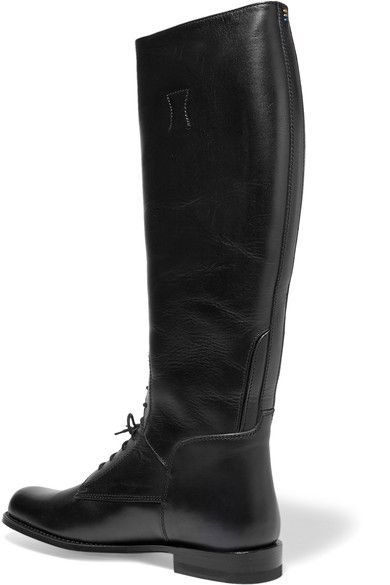 Ariat - Palencia Lace-up Leather Riding Boots - Black - US8.5