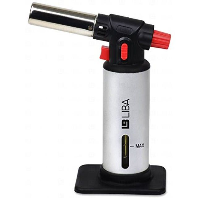 LiBa Culinary Torch - Creme Brulee Torch - Kitchen Torch - Best Creme Brulee Torch - Food Torch - Cooking Torch - Cooking Blow Torch - Brul