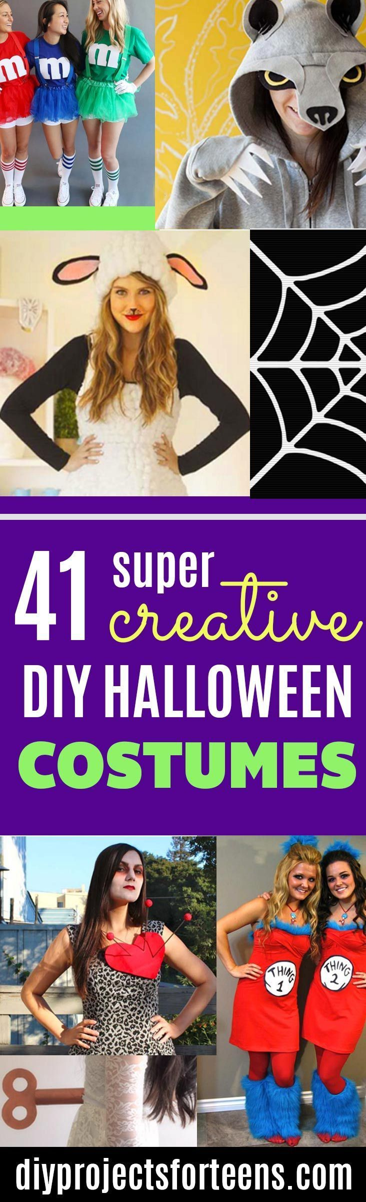 Best 25 tween halloween costumes for girls diy ideas on pinterest 41 super creative diy halloween costumes for teens solutioingenieria Image collections
