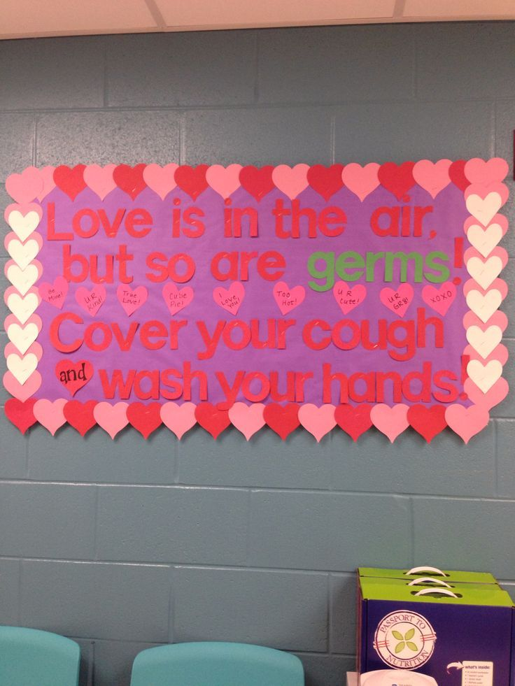 school nurse bulletin board | My Valentine's day clinic bulletin board :)