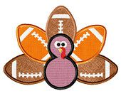 Thanksgiving Football Team Turkey Embroidered Applique Baby Shirt or Onesie--Free Personalization--Made To Order