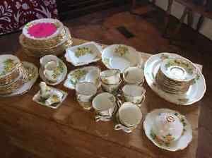 "Royal Albert bone china "" tea room ""seventy piece set"