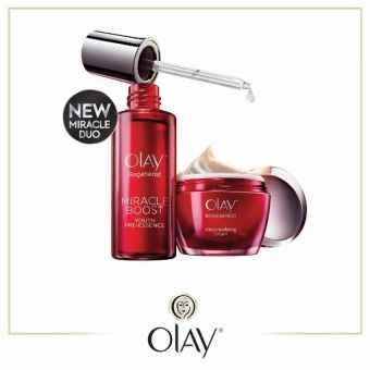 Olay Night Ritual        The powerful combination of Miracle Boost Pre-essence and Olay's most advanced Micro-sculpting Cream works together to boost renewal of surface cells and provide 2x more anti-aging active penetration into skin     Helps repair skin: Reduces wrinkles and Firms     Enhances Skin elasticity     Improves penetration of anti-aging ingredients and helps protect skin from oxidative damage     Results in young-looking skin that looks up to 10 years younger     Get the…