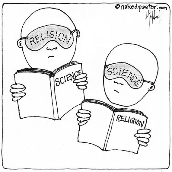 Religion and Science CARTOON