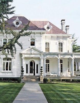 Victorian classic in white. Beautiful!