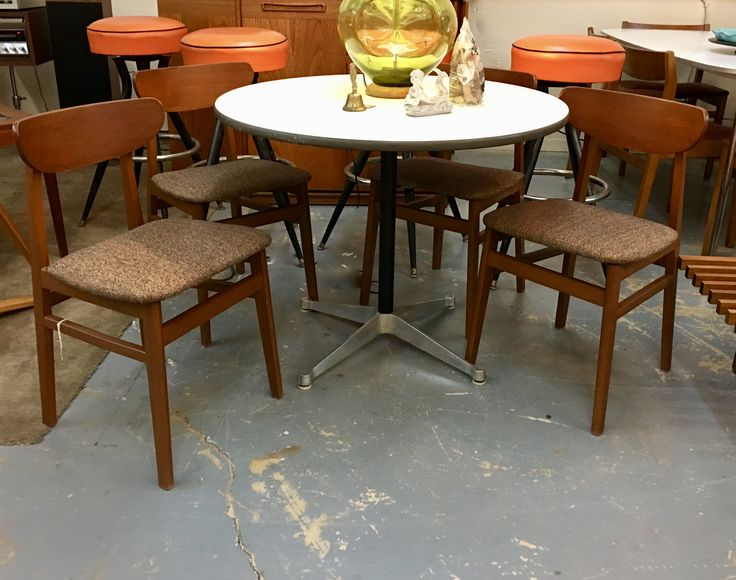 Set Of Four Mid Century Dining Chairs On Sale Was $395 Sale Price $290 Mid  Century