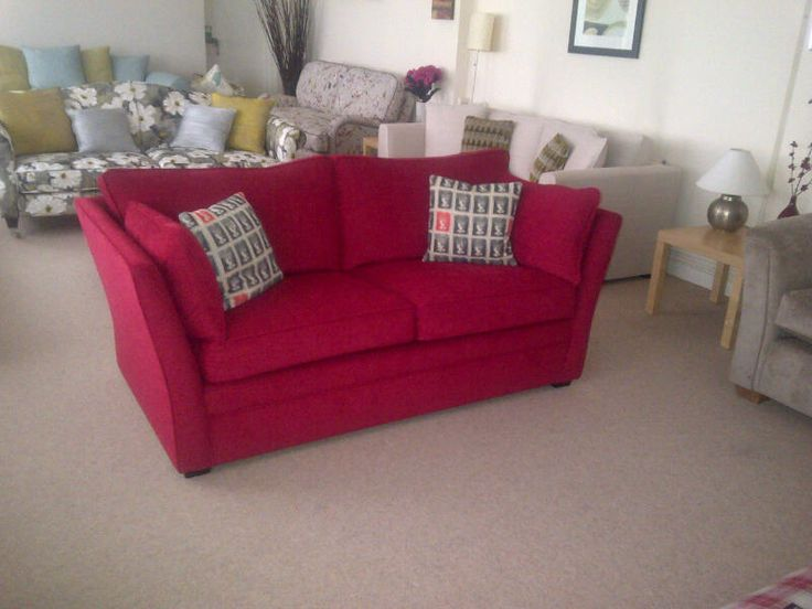 A fitted cover on the Warnock sofa / sofa bed we offer from one of our